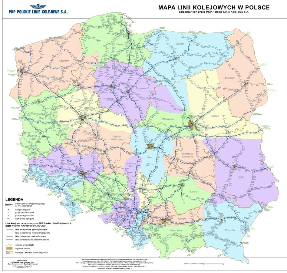 Nietypowy Okaz Mapy - PKP Polskie Linie Kolejowe S.A. YJ36